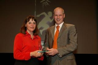 Frau Dr. Irene Hellrung bei der Preisverleihung in Ludwigsburg